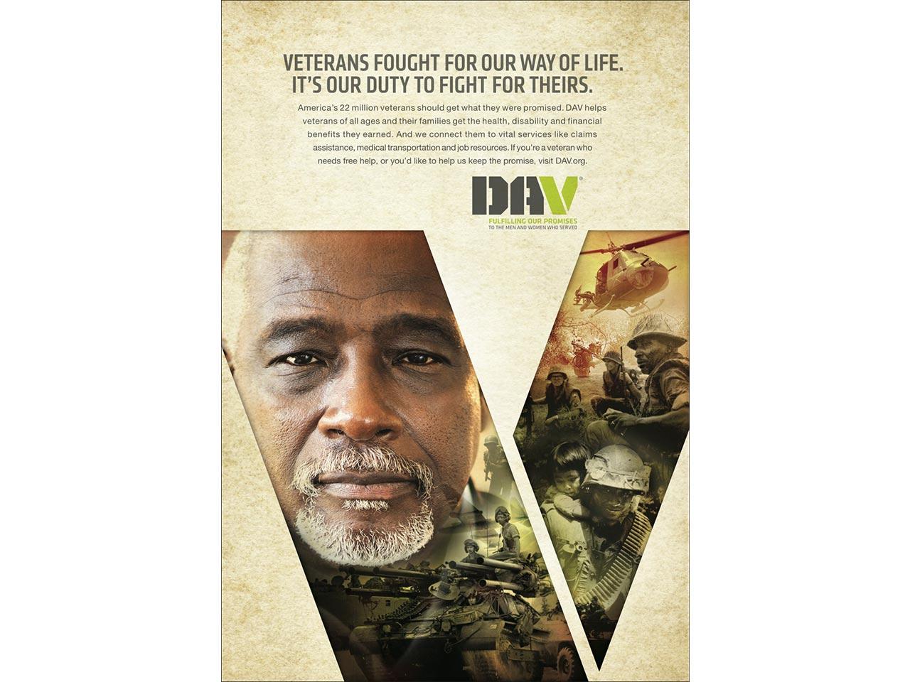 print PSA - Vietnam War veteran