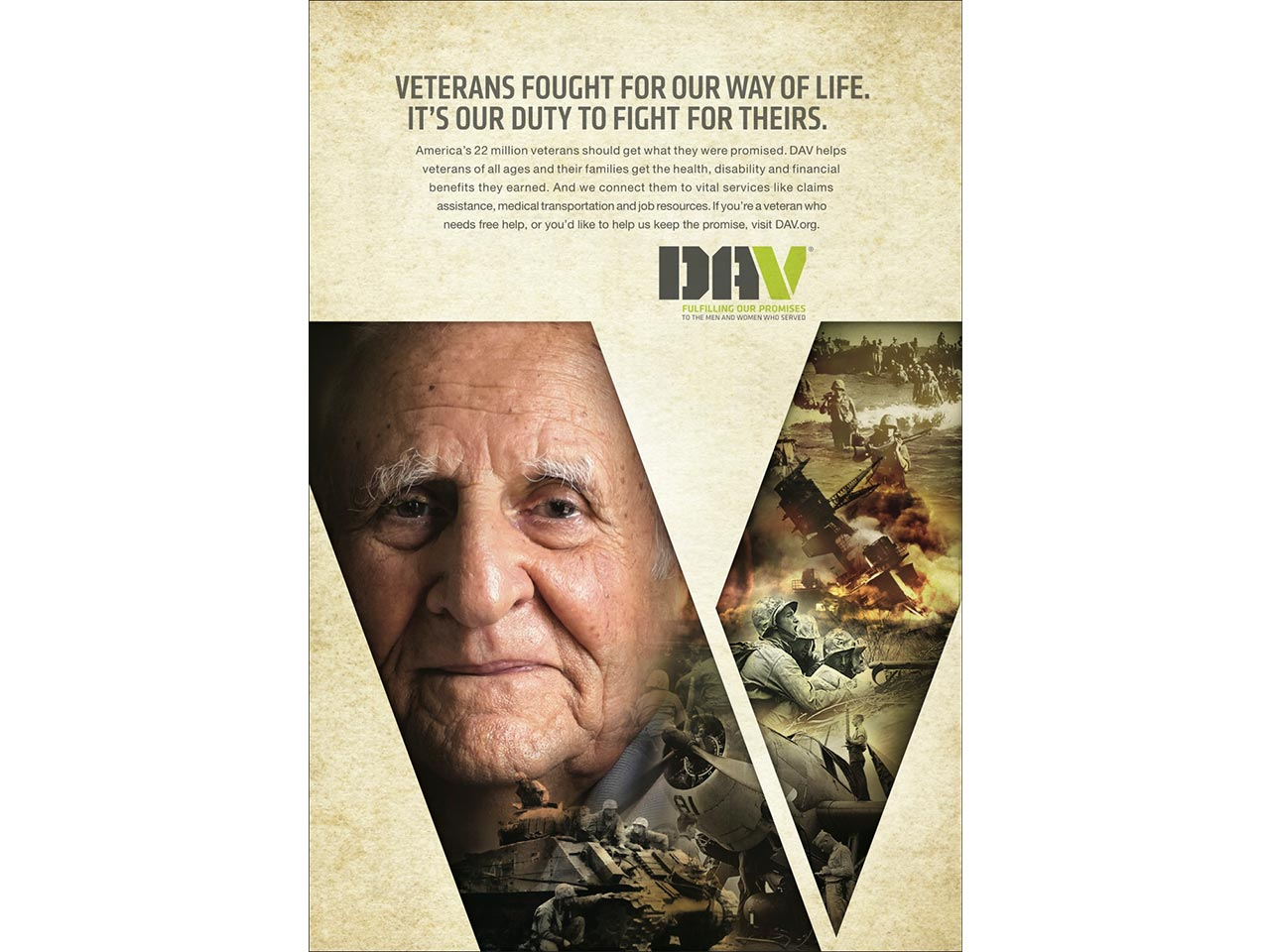 print PSA - World War II veteran