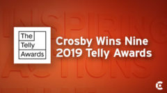 Article thumbnail for Crosby Wins Nine Telly Awards for TV and Multimedia Creative Work