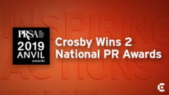Article thumbnail for Crosby Wins Two PRSA Anvil Awards