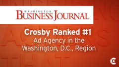 Article thumbnail for Crosby Ranked Region's #1 Ad Agency by Washington Business Journal, #4 in Public Relations