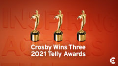 Article thumbnail for Crosby Wins Three Telly Awards for TV and Multimedia Work